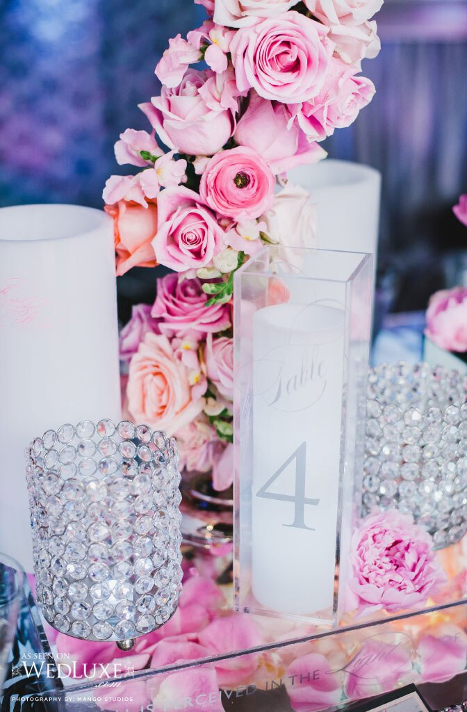 Diy Bling Wedding Table Numbers - Home Design