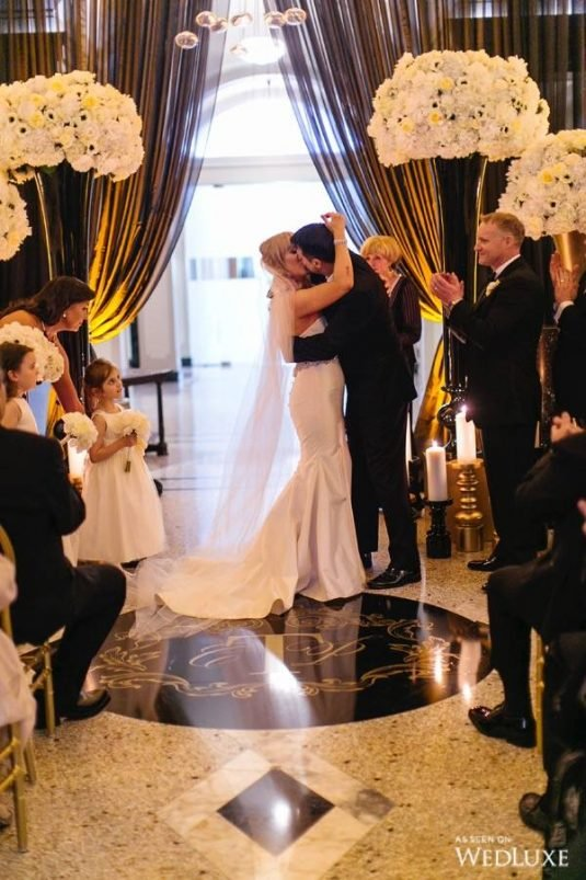 City Wedding | Carrie & Patrick Wedding Kiss | Wedding and Event Planners | Dreamgroup